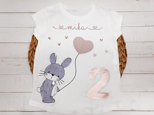 Geburtstags-Shirt  T-Shirt Slim Fit Girls nach Wahl z.B. Hase, ab