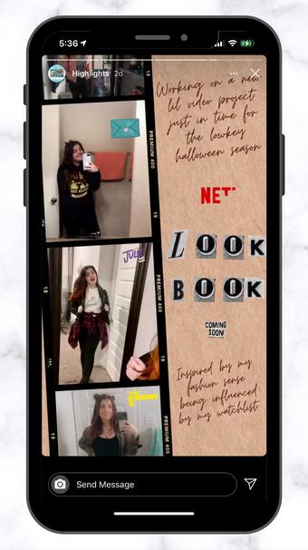RAR Netflix Look Book Sneek Peak IG Story