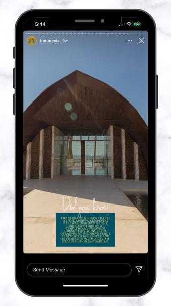CSC Kempinski Wedding Chapel IG Story