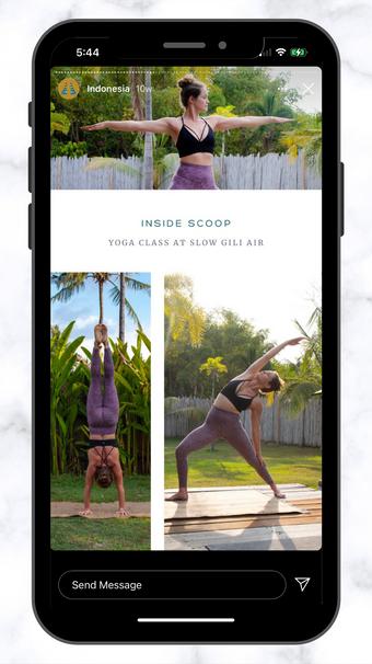 CSC Yoga Inside Scoop IG Story