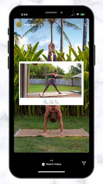 CSC Yoga Polaroid IG Story