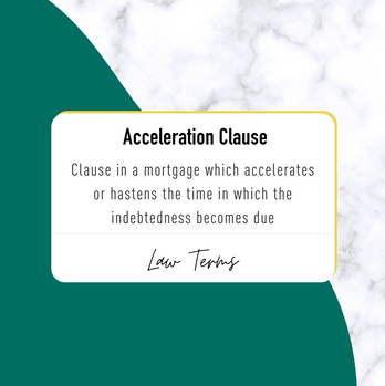 RBL Accelaration Clause IG Post