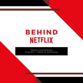 Behind Netflix - Virtual Expo Website + Concept