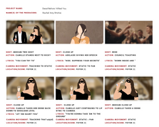 Masked Intentions - Dead Before I Killed You Music Video Storyboard