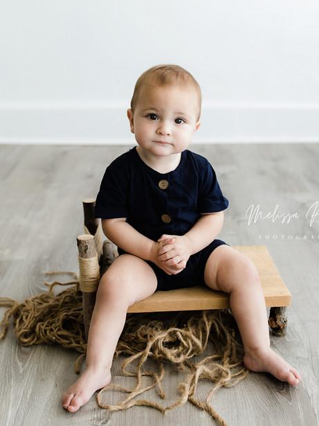 Stewart - In-Studio Milestone Session   Melissa Rosic Photography, WV Family Photographer