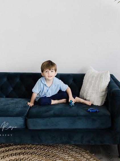 Weaver - In-Studio Portrait Session | Melissa Rosic Photography, WV Family Photographer