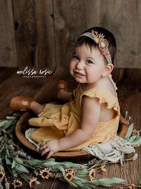 Elena - 1 Year Milestone Portrait Session | Melissa Rosic Photography, WV Family Photographer