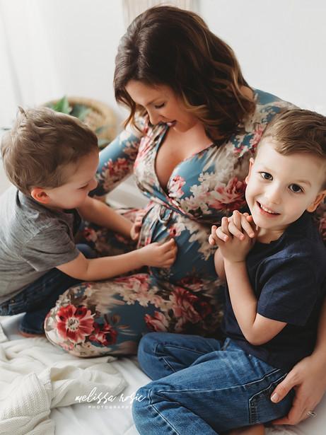 Warner - Mommy & Me Studio Session | Melissa Rosic Photography, WV Family Photographer