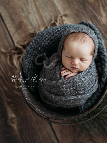 Baugher - Newborn Portrait Session | Melissa Rosic Photography, WV Newborn Photographer