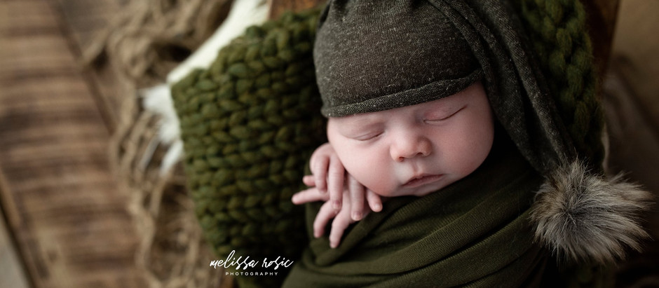 Elijah - Newborn Portrait Session | Melissa Rosic Photography, WV Newborn Photographer
