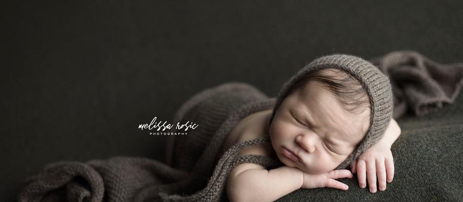 Henry - Newborn Portrait Session | Melissa Rosic Photography, WV Newborn Photographer