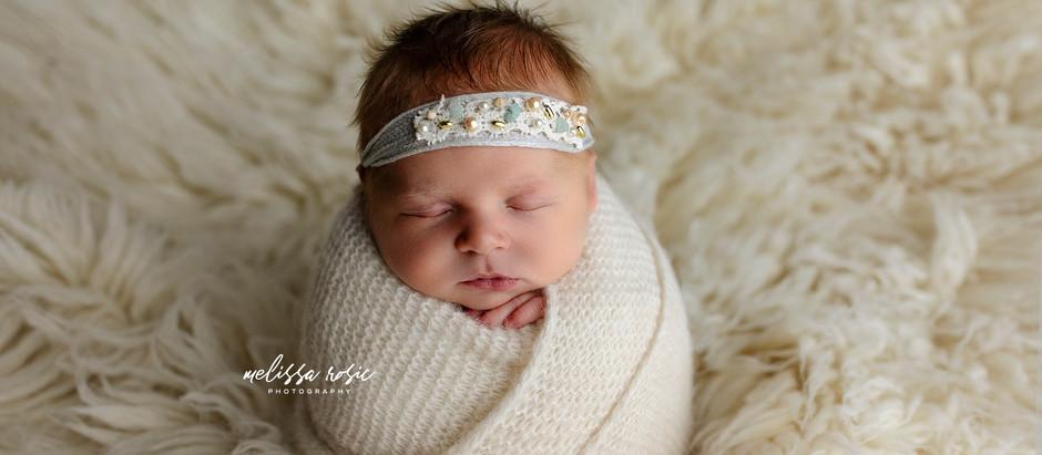 Ayla - Newborn Portrait Session | Melissa Rosic Photography, WV Newborn Photographer
