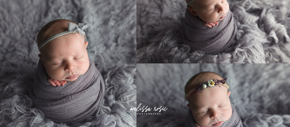 Leigha - Newborn Portrait Session | Melissa Rosic Photography, Fairmont, WV Newborn Photographer
