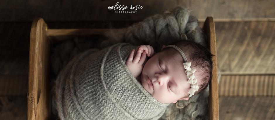 Brynn - Newborn Portrait Session | Melissa Rosic Photography, WV Newborn Photographer