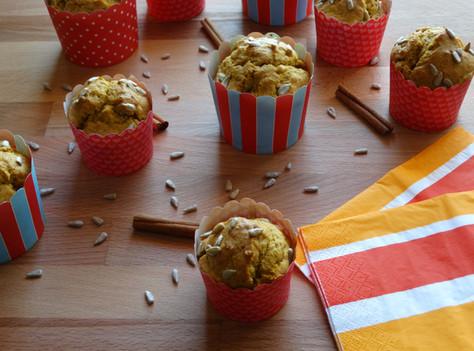 Muffins de Abóbora e Sementes de Girassol