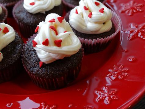 Cupcakes de Chocolate e Baunilha
