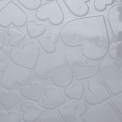 Placa de Textura Corações Grandes