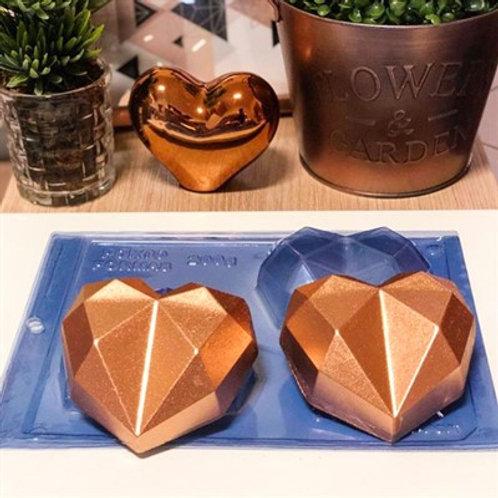 Forma Silicone Coração Diamond 200G