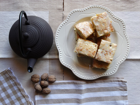 Brownies de Limão e Nozes