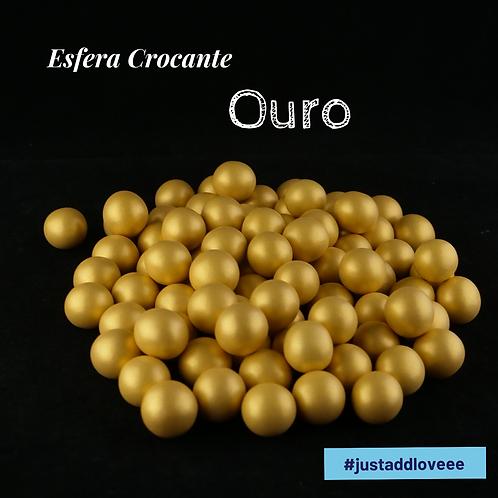 Esfera Crocante Ouro
