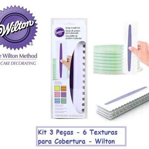 Kit de 3 Peças para Textura Wilton