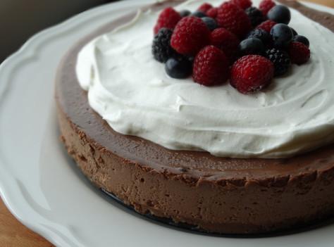 Cheesecake de Chocolate e Frutos Vermelhos