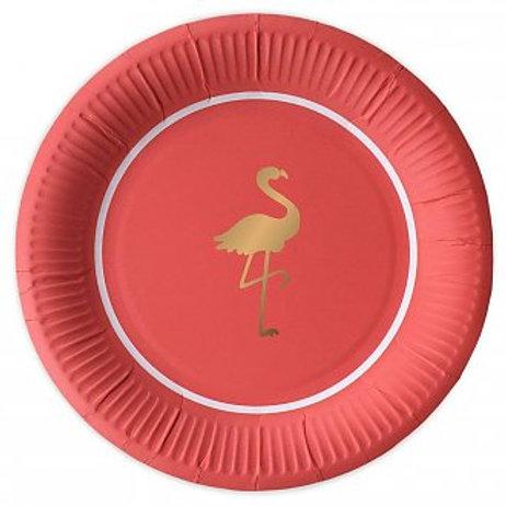 Pratos Preppy Flamingo