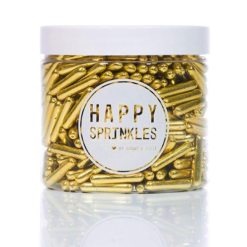 Sprinkles Metalizados Gold Rods
