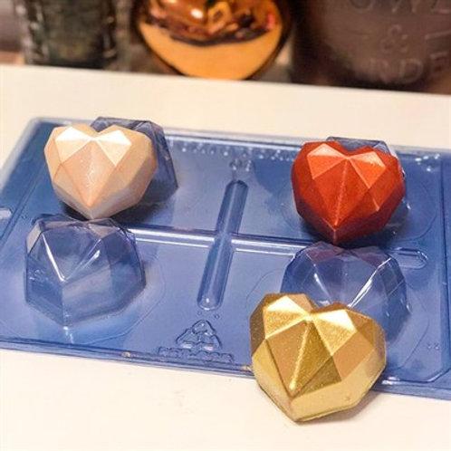 Forma Silicone Trufa Coração Diamond