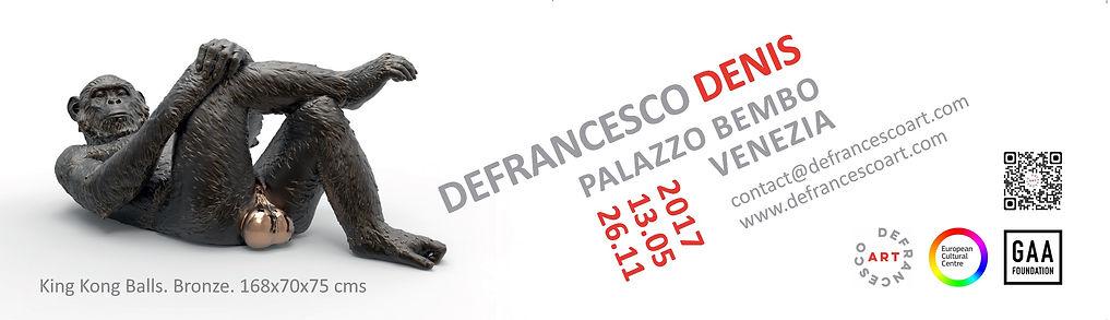 Banner art exhibition denis defrancesco palazzo bembo venezia