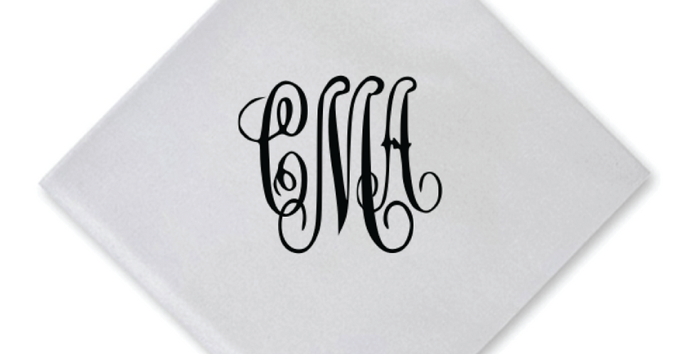 Elegance Cocktail Napkin with Formal Monogram