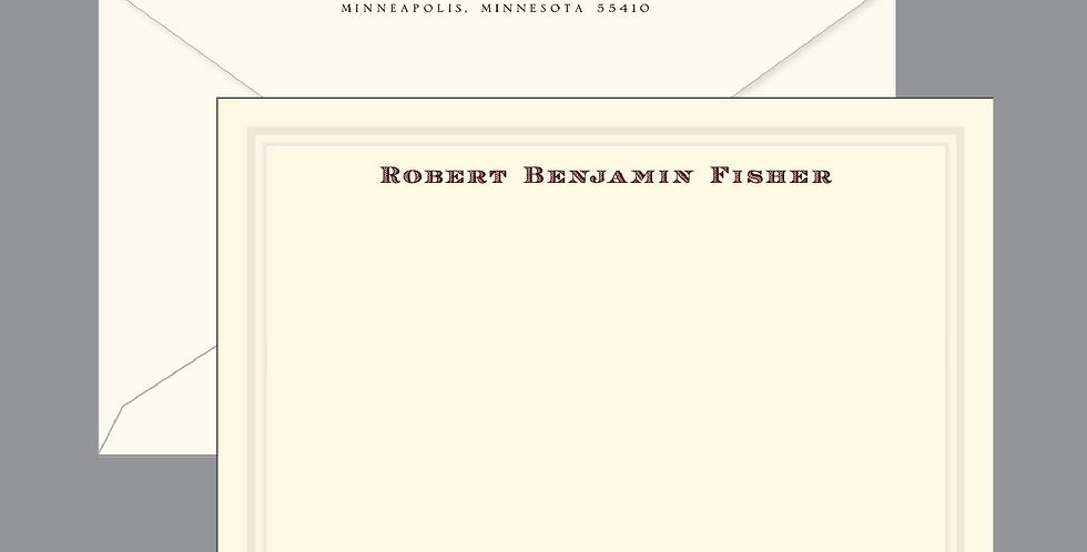 Robert Benjamin Beveled Panel Card