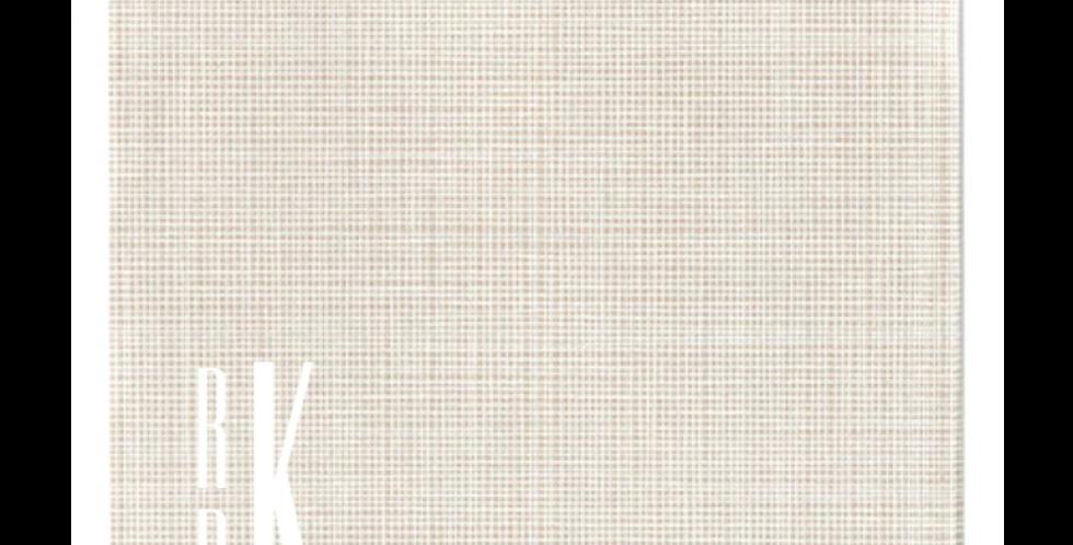 Stone Linen Elegance Cocktail Napkin with Linear Monogram