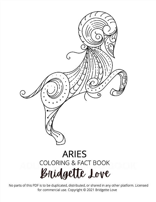 Aries Adult Coloring Book