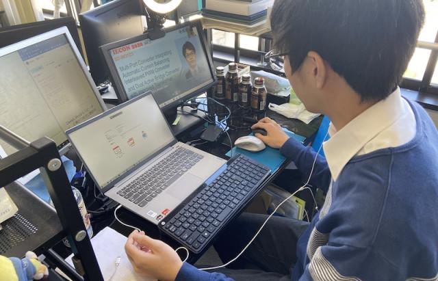 オンラインで開催されたIECONで7名の学生が研究発表を行いました Presentation by seven master students in IECON online