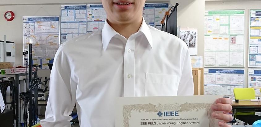 M2の学生が公益社団法人自動車技術会 大学院研究奨励賞とIEEE PELS Japan Young Engineer Awardを受賞