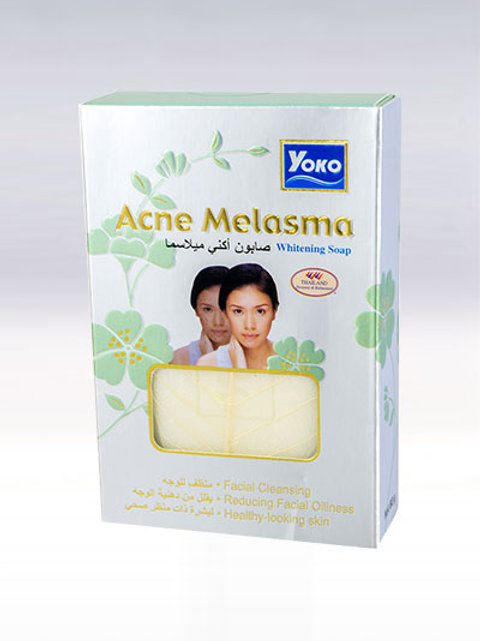 Мыло от прыщей/YOKO ACNE MELASMA WHITENING SOAP. 80g