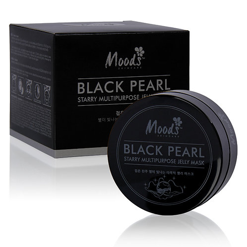 Патчи для глаз/MOODS BLACK PEARL STARRY MULTIPURPOSE JELLY MASK,60шт