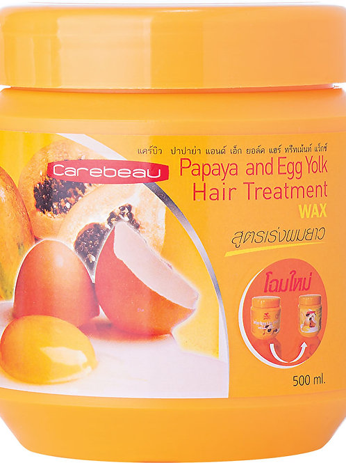 Маска для волос/Carebeau Hair Treatment Wax Papaya. Carebeau. 500g