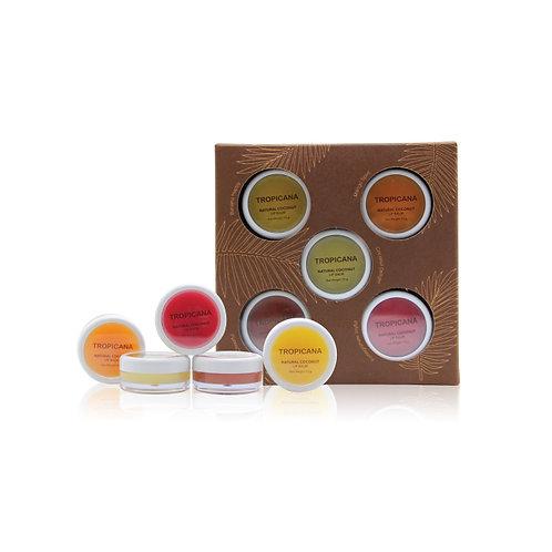 Набор бальзамов для губ/Lip balm Set 5 pcs.Tropicana. 10g x 5
