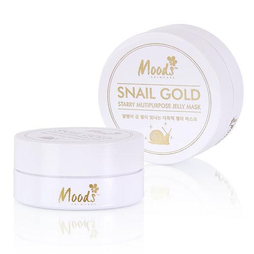 """Гидрогелевые патчи для глаз""""Snail gold""""Moods,60шт"""