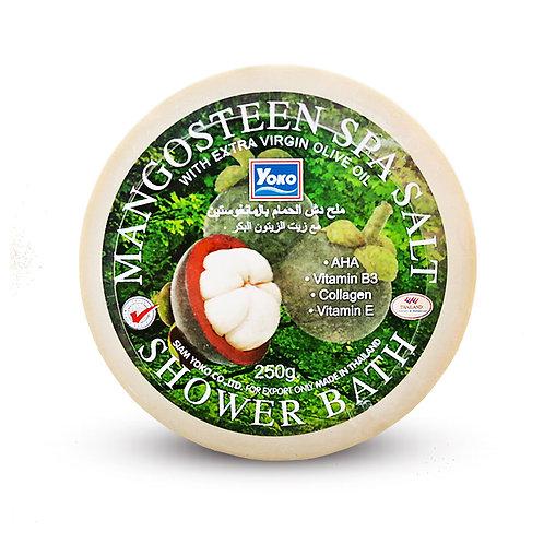Скраб для тела соляной/YOKO MANGOSTEEN SPA SALT SHOWER BATH. 250g