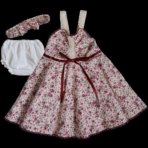 Платье для девочек 3 в 1, De Berry. 6 месяцев