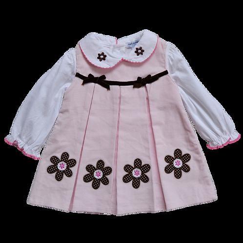 Платье для девочек, MON CARAMEL bebi. 3, 6, 9 месяцев
