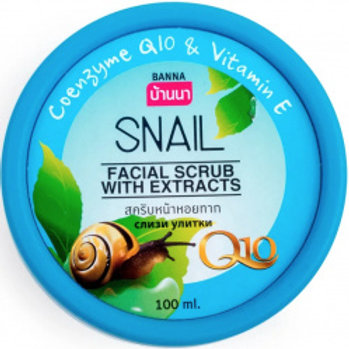 Скраб для лица/Facial Scrub with Extracts of Snail, Banna. 100ml