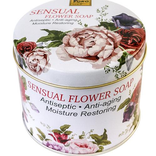 Мыло цветочное/YOKO GOLD SENSUAL FLOWER SOAP. 150g.