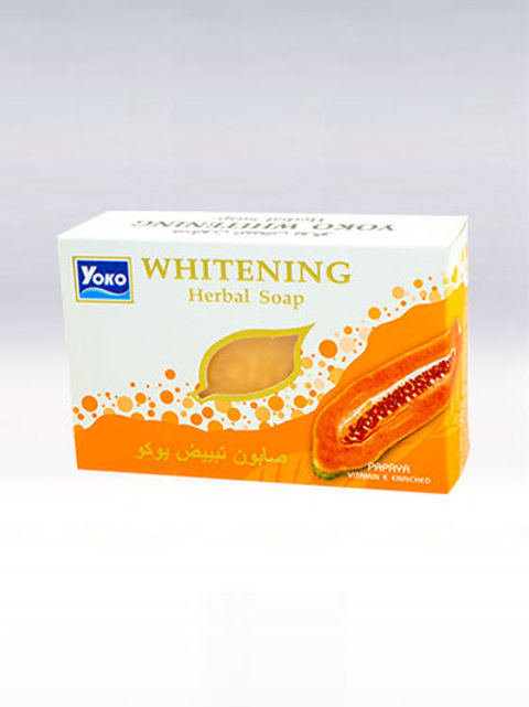 Мыло/YOKO PAPAYA WHITENING SOAP. 135g