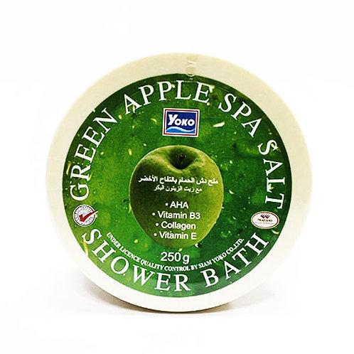 Скраб для тела соляной/YOKO GREEN APPLE SPA SALT SHOWER BATH. 250g
