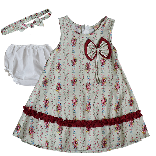 Платье для девочек 3 в 1, De Berry. 6 месяцев, 1, 2 года