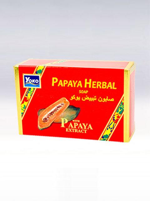 Мыло с папайей/YOKO PAPAYA HERBAL SOAP,135гр